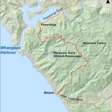 Fig 2. Map of Warawara Forest