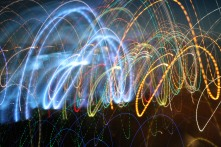 Playing with shutter speed and light